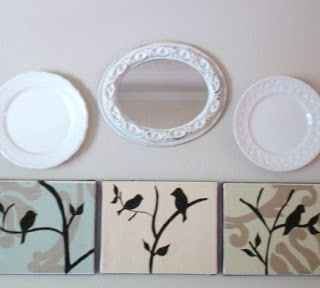 mod podged modern bird silhouette canvases {a tutorial}