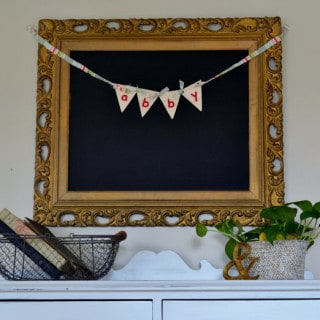 wood and felt buntings {a tutorial}