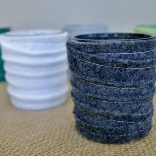stitched felt votive holders (a tutorial)