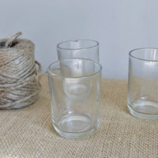twine-wrapped, spray-painted glass {a tutorial}