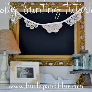 lace and doily bunting {a tutorial}