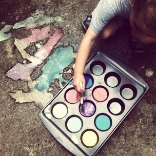 sidewalk paint {a tutorial}