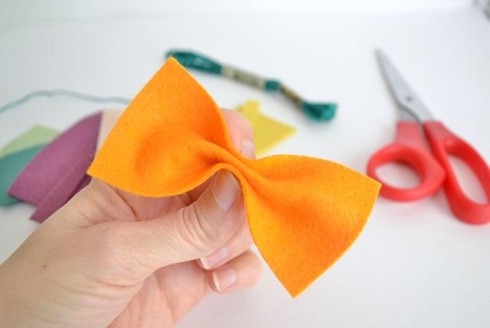 how to make felt bows