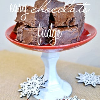 easy chocolate fudge by burlap+blue
