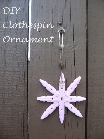 diy clothespin ornament