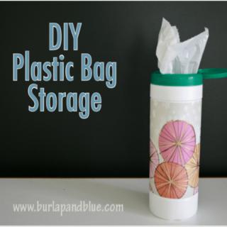 diy plastic bag storage