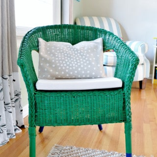 ikea wicker chair makeover