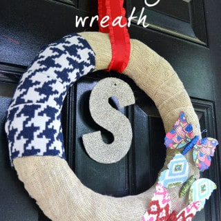 summer monogram wreath by burlap+blue