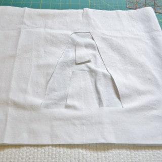 ribbon initial pillow