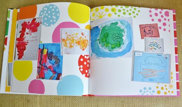 how I catalog my child's artwork