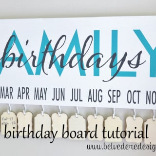 family birthday board {a tutorial}