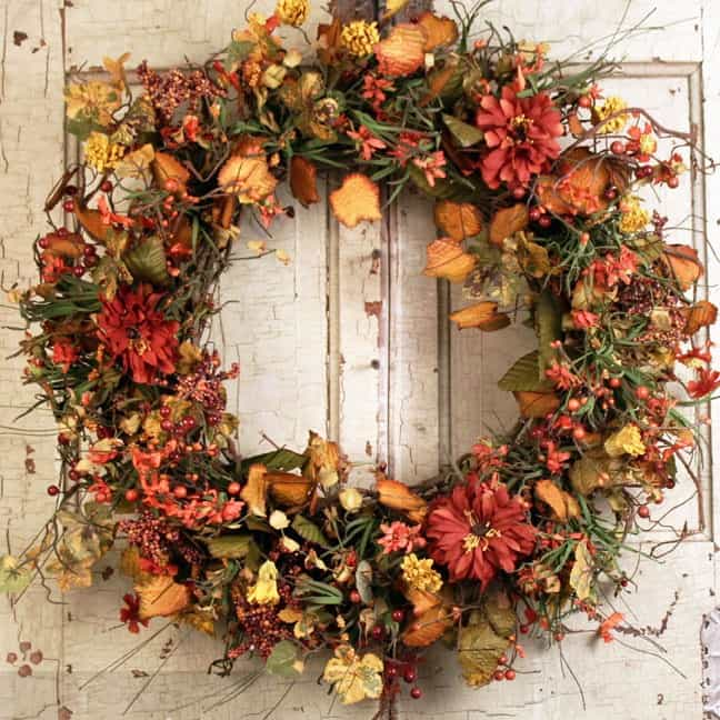Home Depot Christmas Decorations: Fall Wreaths By The Wreath Depot