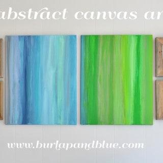 abstract canvas art {a tutorial}