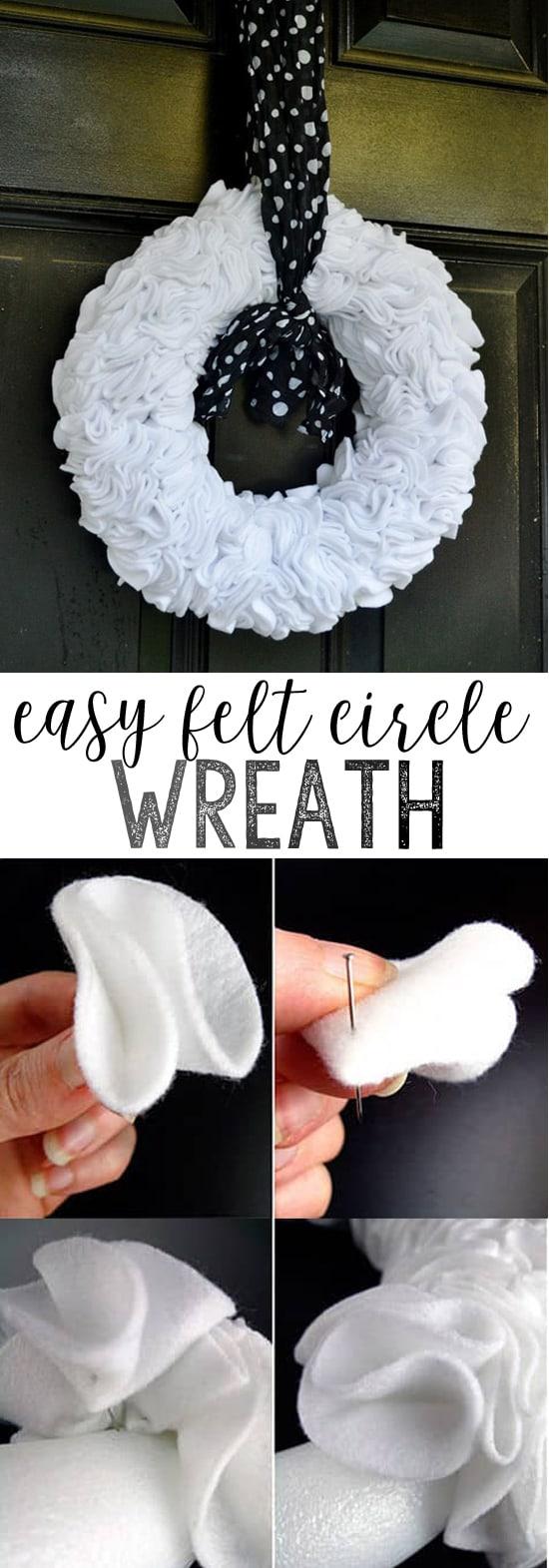 make felt circle wreath