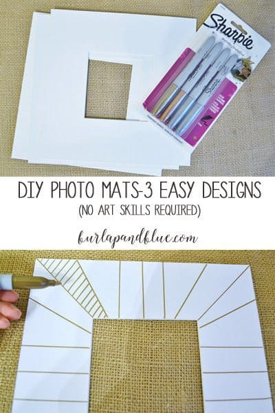 diy photo mats with sharpies
