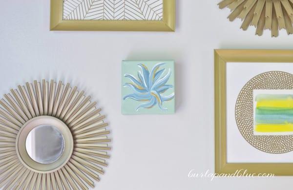 Diy Floral Abstract Canvas