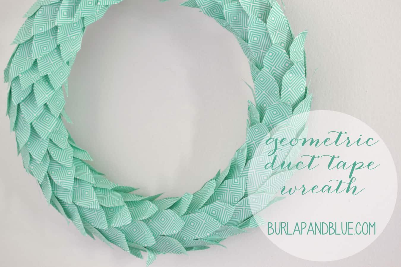 duct tape wreath tutorial