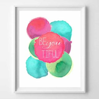 girls watercolor printable