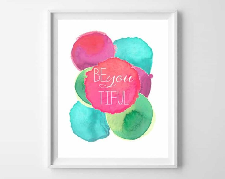 Be You Tiful Free Printable