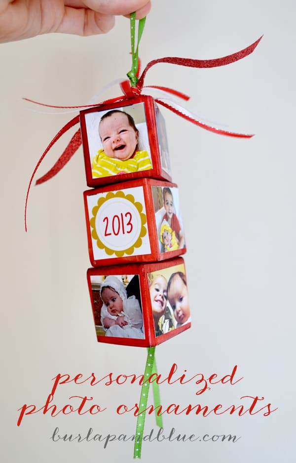personalized photo ornaments {a tutorial}