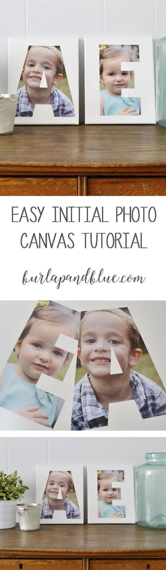 An easy personalized photo canvas idea, perfect for gifts