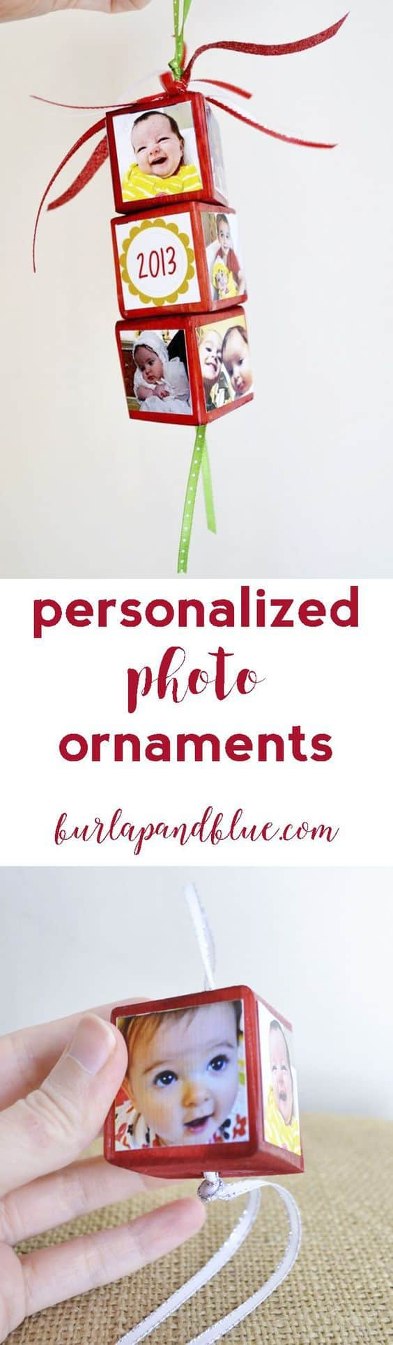 personalized photo ornaments are the perfect christmas gift idea