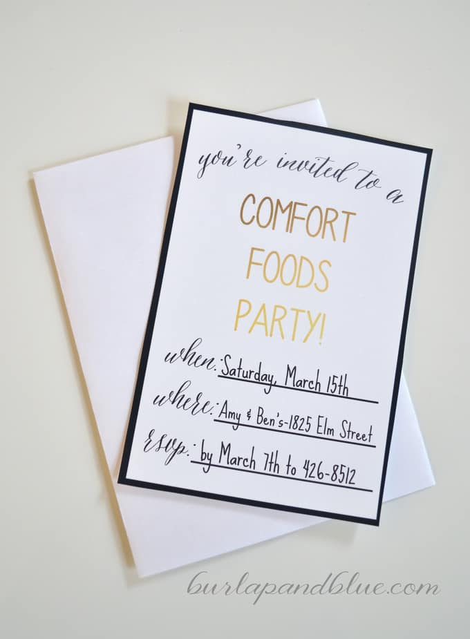 Throw a Comfort Foods Party