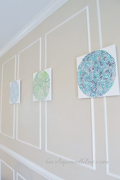 Make Polka Dot Canvases