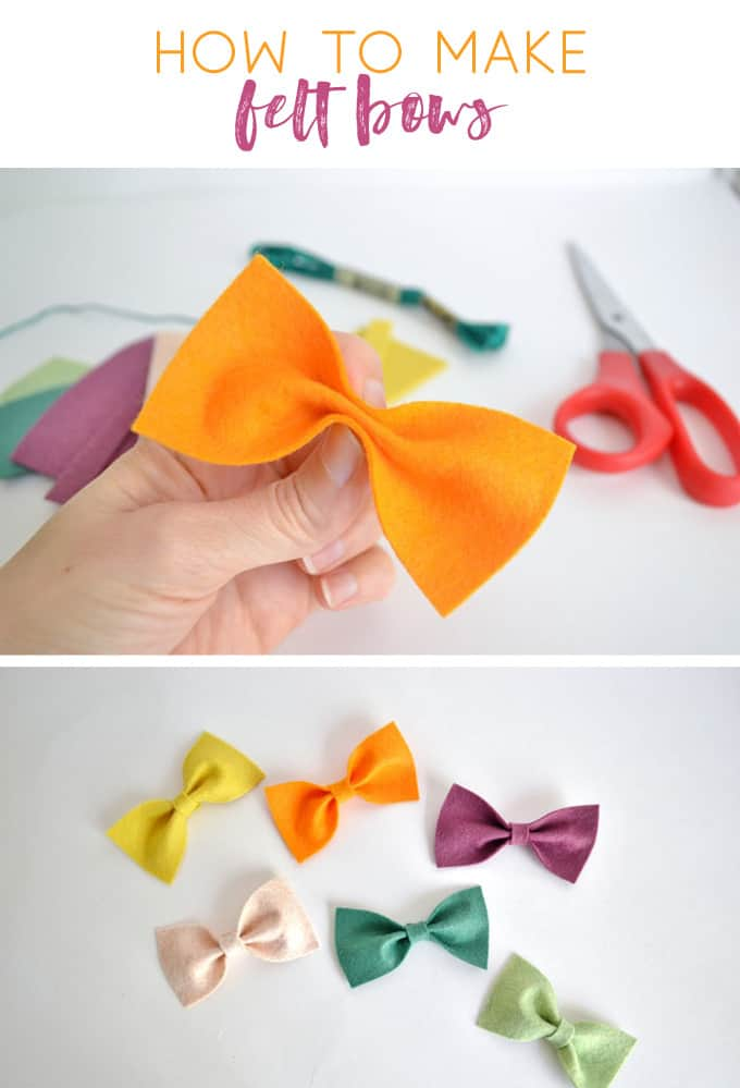how to make felt bows | felt crafts | easy crafts | garland | bunting | how to make bows | bow making