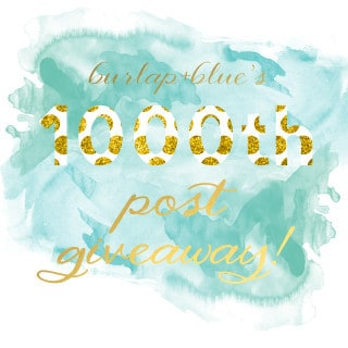 1000th post giveaway!