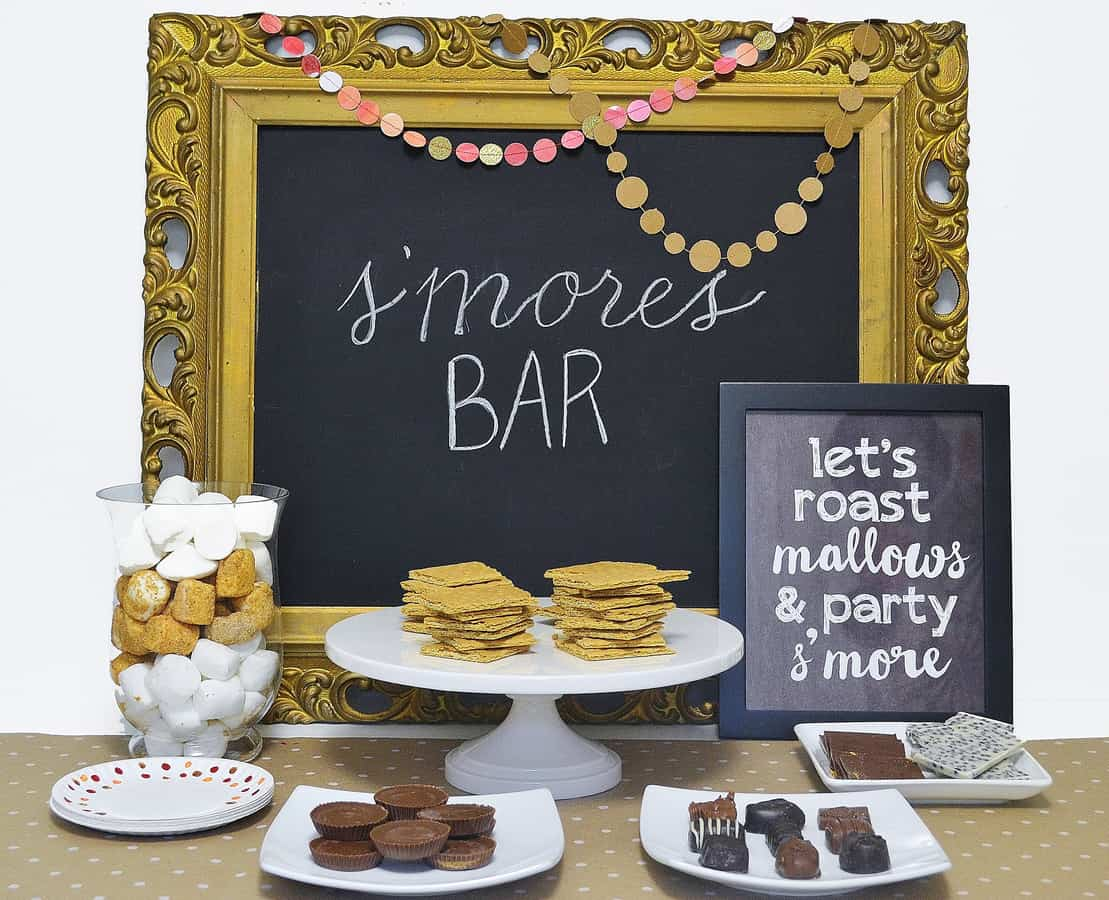 s'mores bar printable