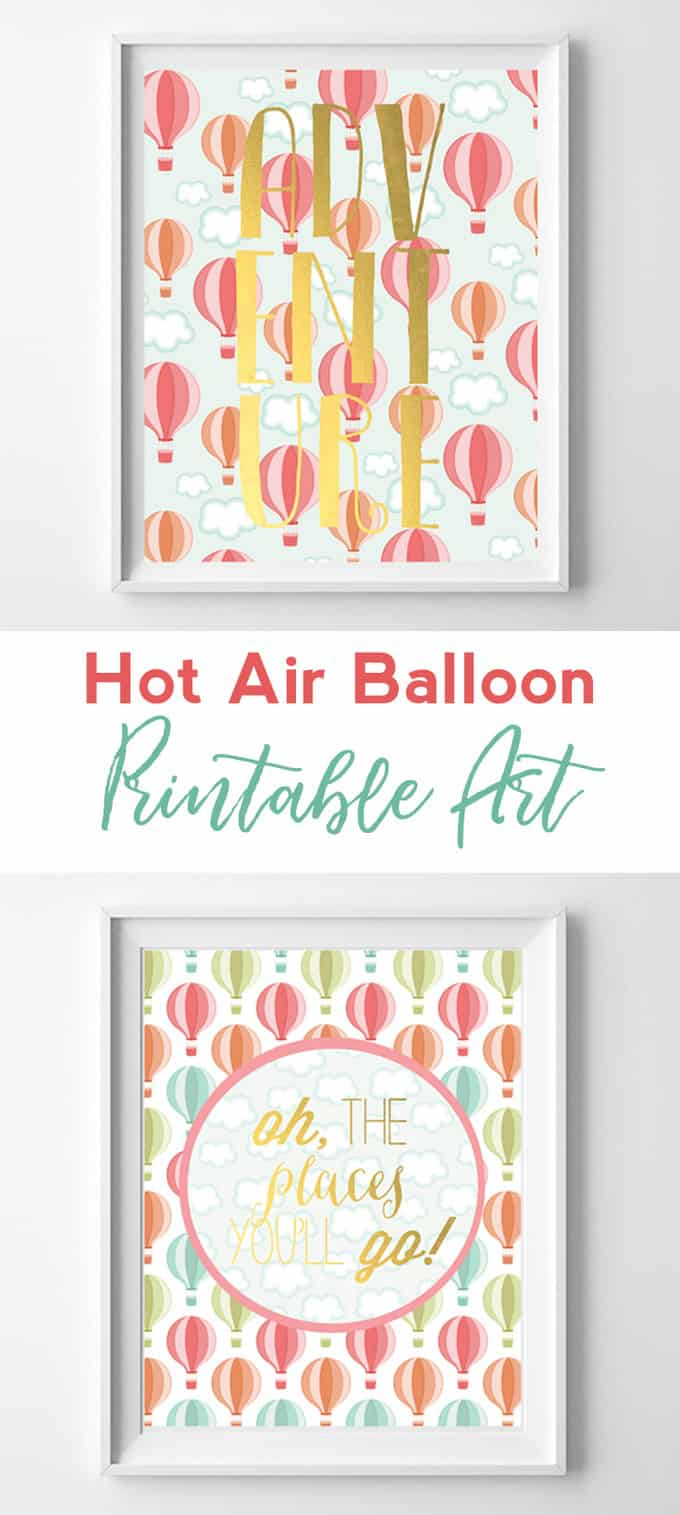 hot air balloon printables