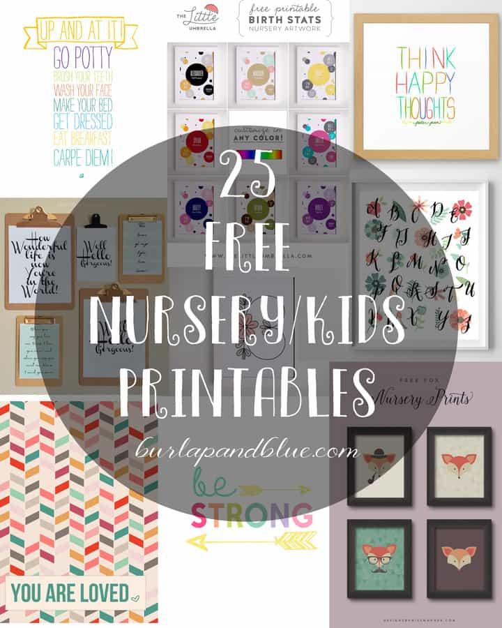 Kids Printables {Free Printable Art for Kids and Nurseries}