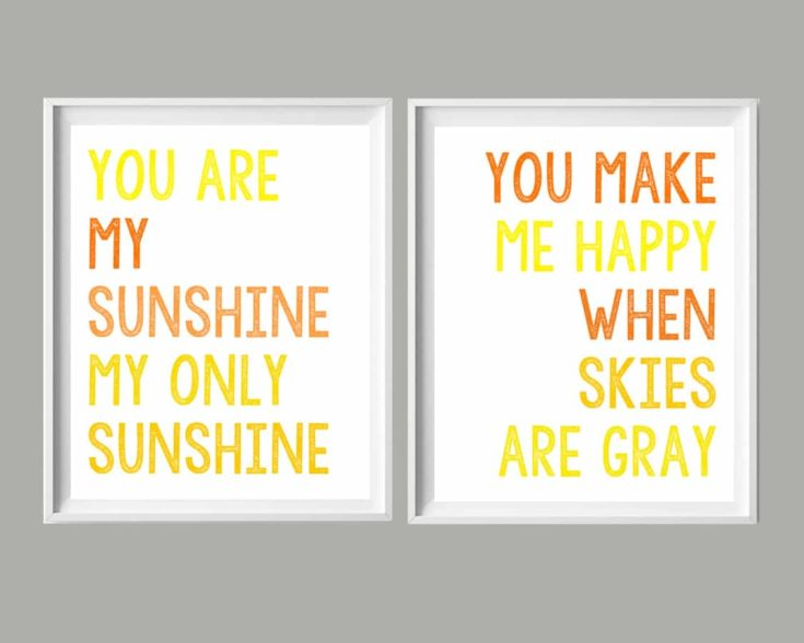 You Are My Sunshine Printable Art