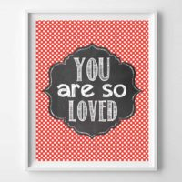 You Are So Loved Wall Art