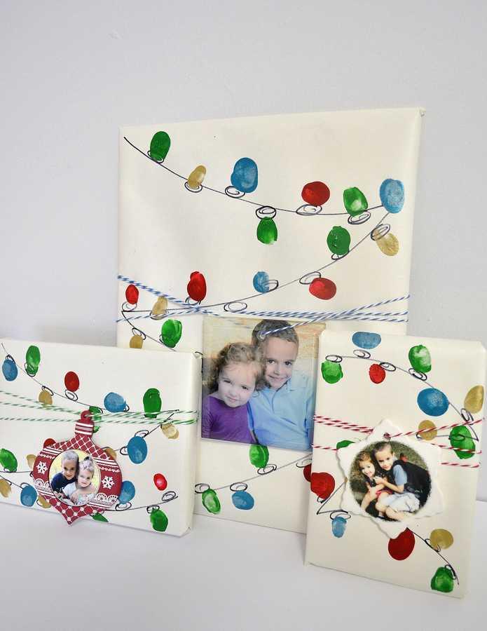 fingerprint holiday lights wrap