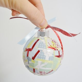 DIY Christmas Ornaments {How to Mod Podge Glass Ornaments}