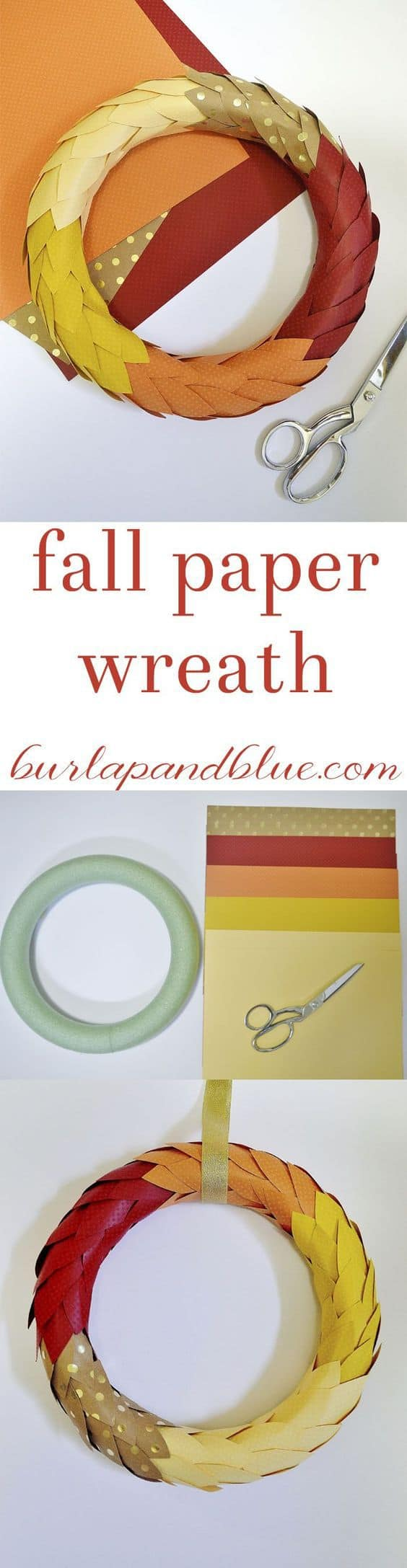 fall paper wreath
