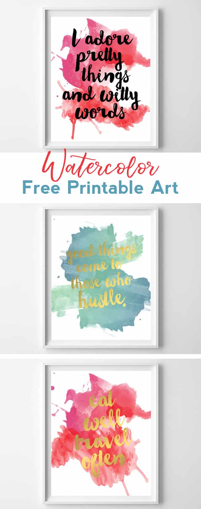 watercolor printable art