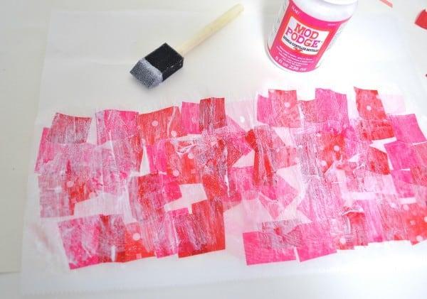 tissue paper heart 5