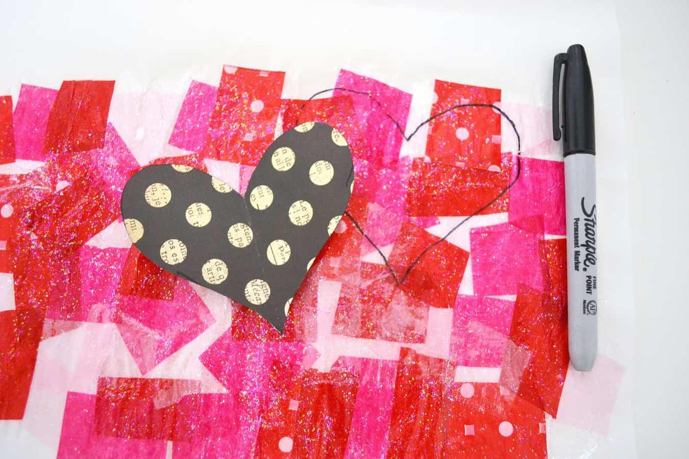 tissue paper heart 4