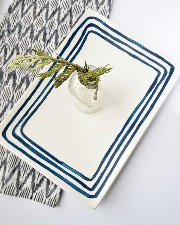 blue stripe platter