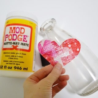 tissue paper heart {a tutorial}