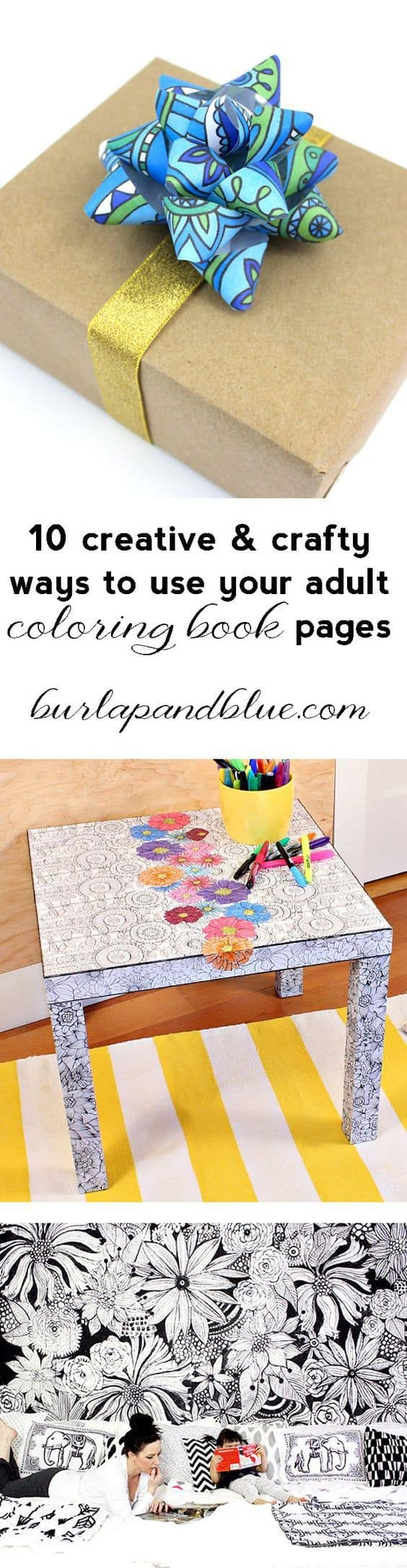 decorating with coloring pages