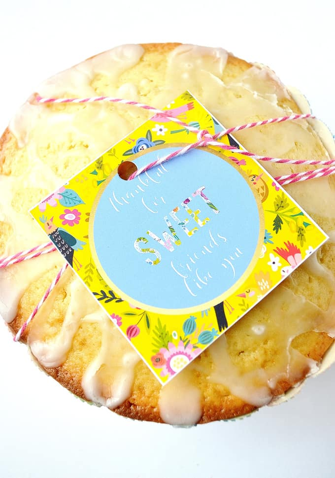Lemon Cake Recipe Amp Printable Gift Tags