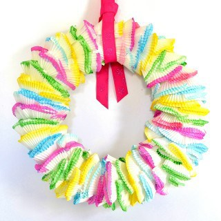 cupcake liners wreath