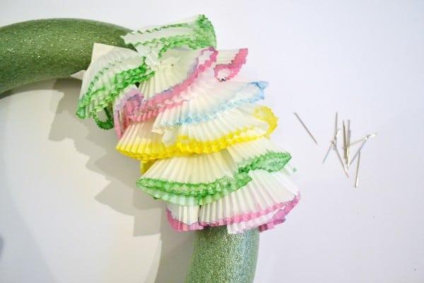 cupcake liners wreath