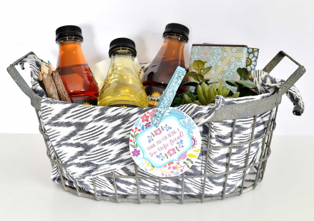 tea gift basket idea
