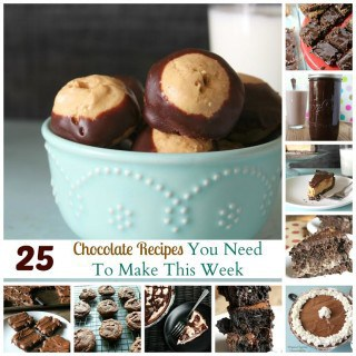 25 chocolate recipes to make this week {brownies, cookies, cake, and more!}