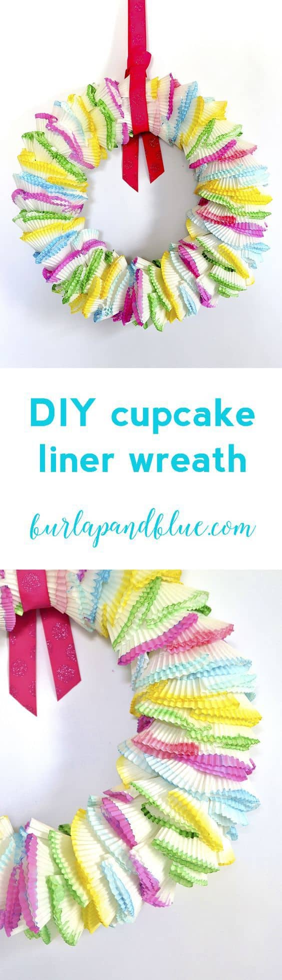 cupcake liner wreath diy